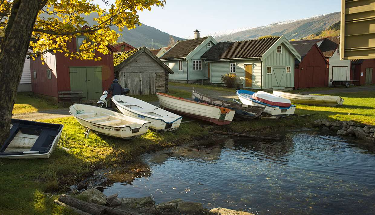 Boathouses at Vikøyri